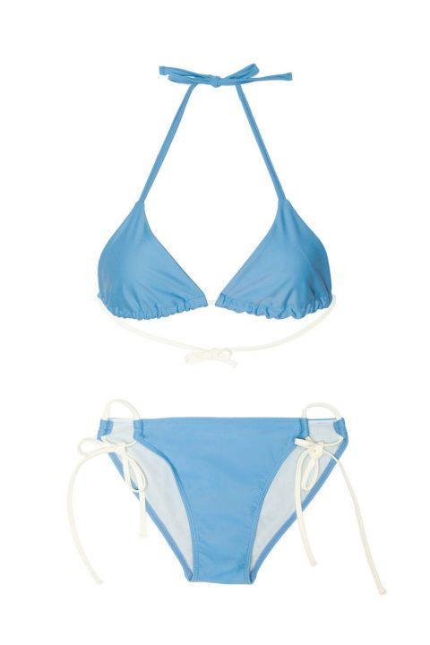 Triangle Bikini light blue ties bottom bikini - ILOVEBELOVE