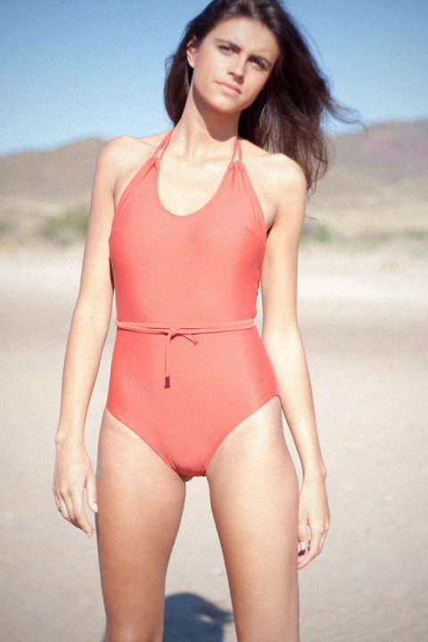 One piece red coral - ILOVEBELOVE