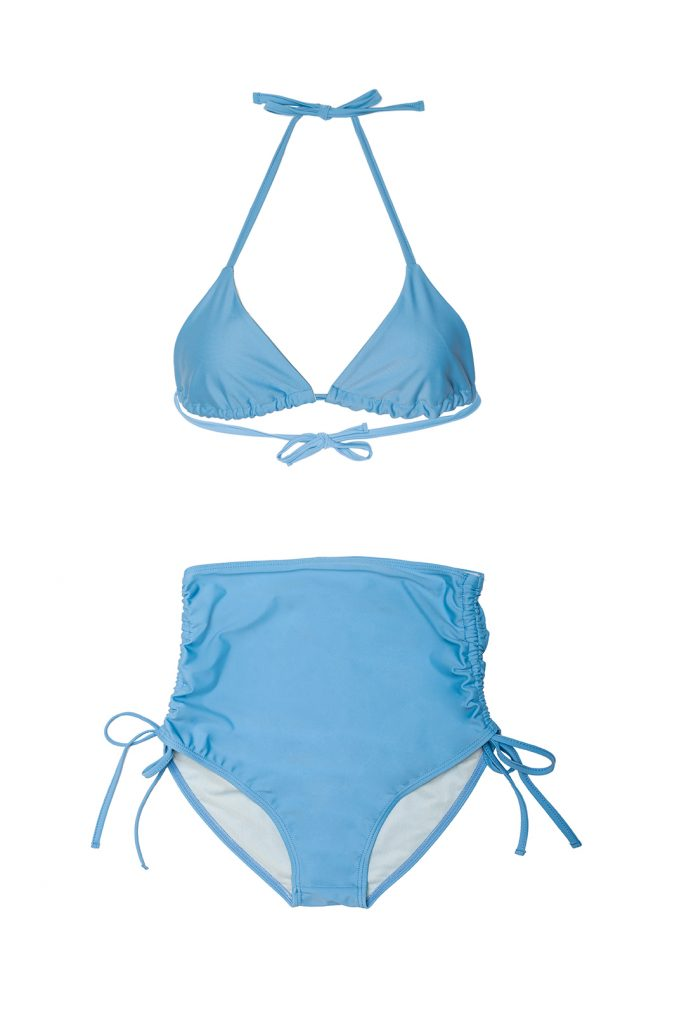 Triangle Bikini light blue high bottom - ILOVEBELOVE
