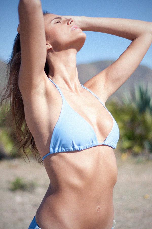 Triangle bikini sky blue - ILOVEBELOVE