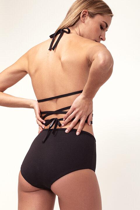 Black wrap bikini - high bottom - ILOVEBELOVE