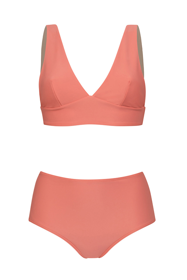 Comfy Pink bikini - high bottom - ILOVEBELOVE