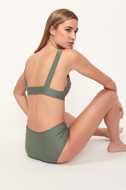 Comfy Green bikini - high bottom - ILOVEBELOVE